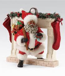 possible dreams african american making an entrance santa figurine