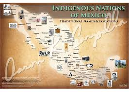 Map Mexico by Mexico Indigenous Nations Of Mexico Map Native And Common