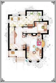 frasier crane apartment floor plan 19 best tv show floor plans images on pinterest