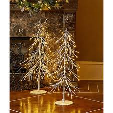 2 pc pre lit led tree set sam s club