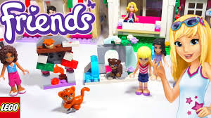 lego friends christmas fireplace and biscuit the bear in the snow