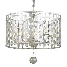 Silver Chandelier Crystorama Crystorama Layla 5 Light Antique Silver Chandelier