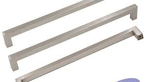 5pack goldenwarm brushed nickel square bar cabinet pull drawer