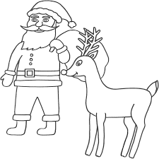 the holiday site santa claus coloring pages