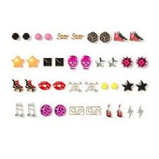 earrings for school assorted girly stud earrings set of 20 iwanttheses