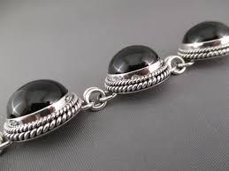 onyx bracelet images Black onyx link bracelet by artie yellowhorse onyx bracelet jpg