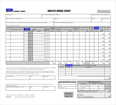 Detailed Expense Report Template by 10 Expense Report Template Free Word Excel Pdf Documents