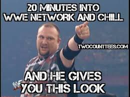 Wwe Network Meme - memes wwe network and chill two count tees