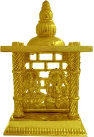 online shopping for home decor accessories at best price heaven decor gold plated laxmi ganesh small iron home temple