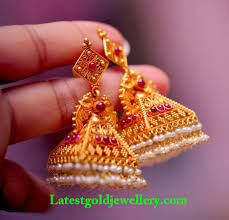 gold jhumka earrings design with price gold jewellery designs jhumkas