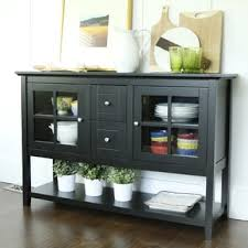Black Hutch Buffet With Wood Top Glass Buffets Sideboards U0026 China Cabinets Shop The Best Deals