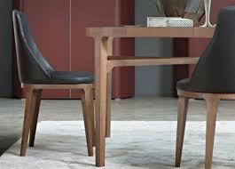 soldes chaises salle a manger chaises de salle manger contemporaines en pu brun lot de 2 chaise
