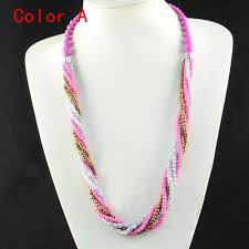 necklace beaded designs images Beautiful handmade colorful bohemian seed beaded necklace acrylic jpg