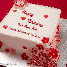 write happy returns birthday cake