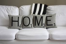 home scrabble pillows inserts included big scrabble tile