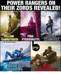 Power Ranger Meme - power rangers on their zords revealed pink black yellow sabretooth