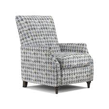 prolounger blue houndstooth push back recliner chair free