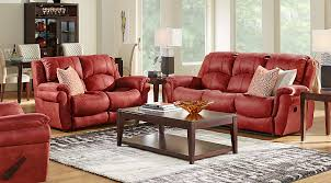 Rooms To Go Living Room Set Corbin Red 3 Pc Living Room Living Room Sets Red