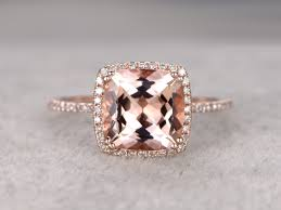 3 karat engagement ring 9mm big cushion 3 carat morganite engagement ring wedding