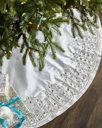 white tree skirt christmas tree skirts at neiman