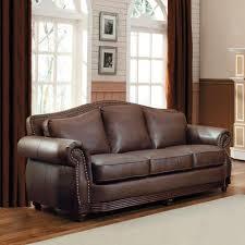 Camelback Leather Sofa by Homesullivan Kelvington Chocolate Leather Sofa 409616brw 3 The