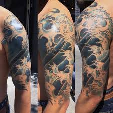 nice arm japanese wave tattoo 3 golfian com