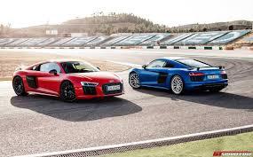 Audi R8 Blue - 2016 audi r8 v10 plus review gtspirit