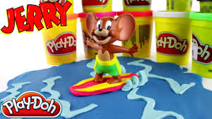 play doh jerry mouse surfer tom jerry cartoon characters