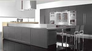 modern kitchen gray cabinets interior design