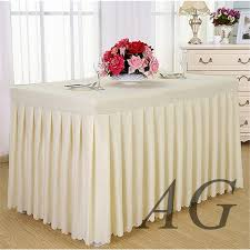 Pink Table Skirt by Wholesale Wedding Banquet Hotel Fancy Ruffled Pink Table Skirt