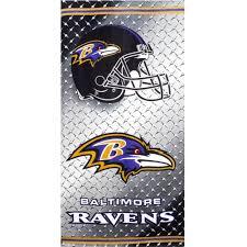 chrome shield baltimore ravens beach towel baltimore sun store