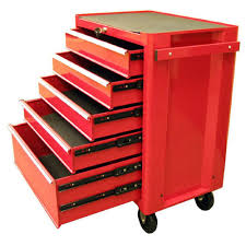 rolling tool storage cabinets excel 27 in 5 drawer steel roller cabinet tool chest in red