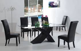 black dining table chairs black glass dining room table and chairs www elsaandfred com