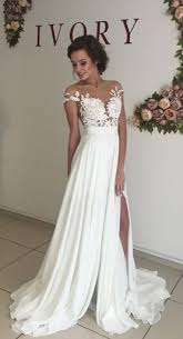 long chiffon wedding dress short sleeves wedding dress cheap