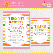 My Birthday Invitation Card Twotti Frutti 2nd Birthday Invitation Printable Girls Sweet