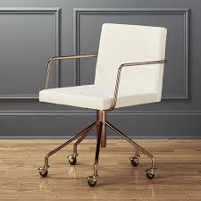 office chair in white steel office furniture cb2 with regard to white gold chair plan 18