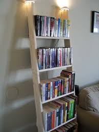 Narrow Leaning Bookcase by Small Ladder Shelf Ladder Bookcase Leaning Ladder Bookcase Cabinet