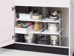 easy home expandable under sink shelf iris under sink multi drawer organizer reviews wayfair