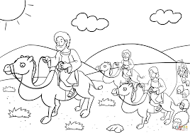 jacob returns to bethel coloring page free printable coloring pages