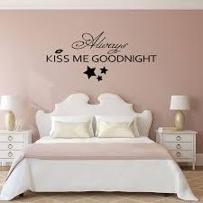chambre nuit d amour baiser toujours moi bonne nuit chambre romantique sticker vinyle