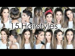 quick and easy hairstyles for running 15 easy hairstyles hairstyles easyhair hairtutorial hairdo