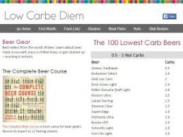 busch light calories and carbs 250 lowest carb beers low carbe diem