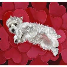 Valentine S Day Flags Shop Precious Pet Paintings 3 33 Ft X 2 33 Ft West Highland