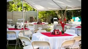 simple backyard wedding decoration ideas house design and planning