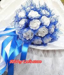 wedding flowers blue and white new arrival 1pc x pretty white wedding flowers bridal