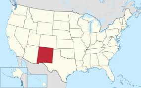 map of america showing states and cities new mexico