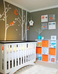 lino chambre bébé lino chambre enfant daccoration orange bleu et taupe pour une