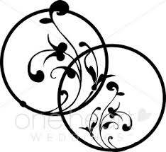 wedding invitation symbols entwined black wedding ring accent wedding symbols