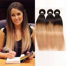 Blonde Weft Hair Extensions by 3 Bundles Color 1b 27 Dyed Weave Hair Extensions Straight