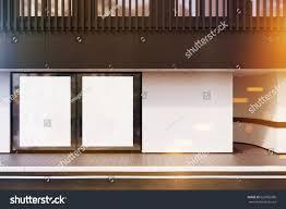 shop window two posters black balcony stock illustration 626895986